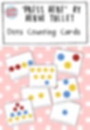 Free dots counting cards based on the book 'Press Here' by Herve Tullet. These set of dot counting cards are great for practicing counting one to one correspondence and may help children learn to subitize.