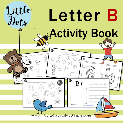 Letter B Activity Book Little Dots Education