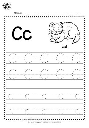 Free Letter C Tracing Worksheets Little Dots Education Preschool
