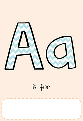 Make your own letter a book with this letter a book cover template.