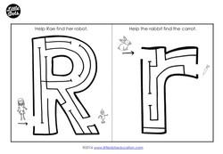 letter r maze