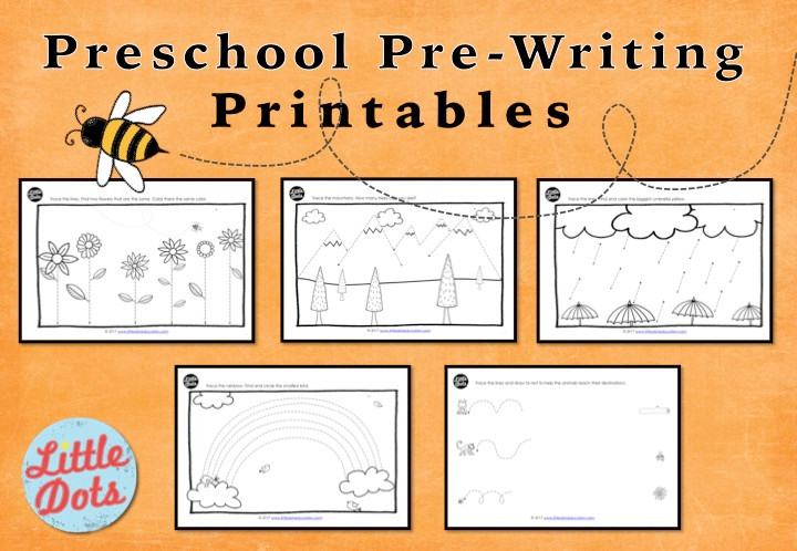 Preschool Pre-Writing Printables