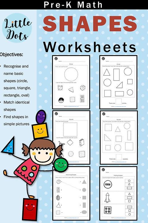 Pre-K Shapes Worksheets
