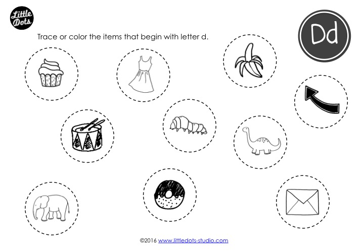 Preschool Letter D Activities And Worksheets Little Dots Education