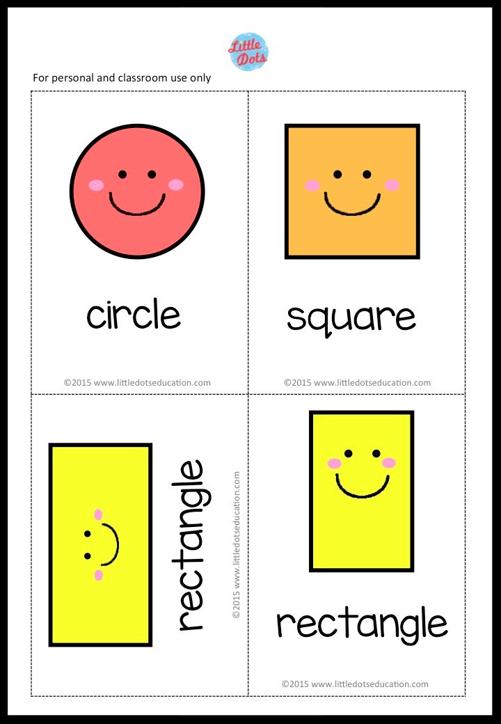 Free Cute Shapes Flashcards
