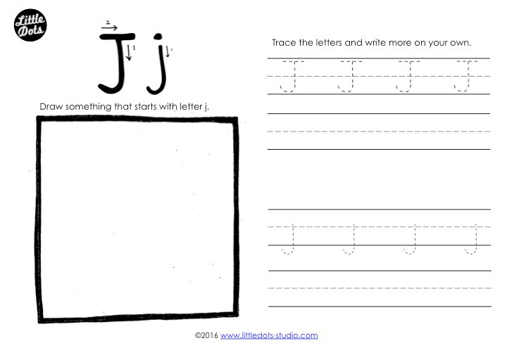 Letter J Tracing Worksheet
