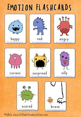 Free emotions flashcards