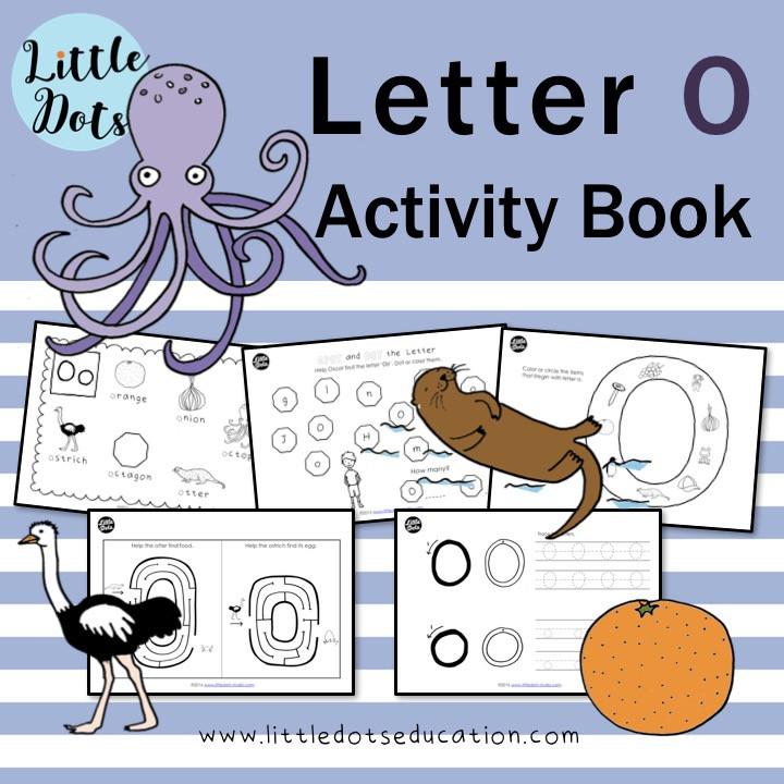 Letter O worksheets