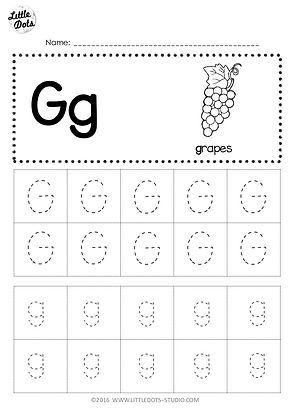 image relating to Tracing Alphabet Printable called No cost Letter G Tracing Worksheets