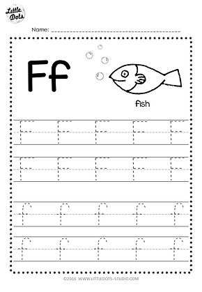 Free Letter F Tracing Worksheets Little Dots Education Preschool