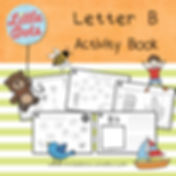 Preschool letter b activities and worksheets. It includes letter b poster, spot and dot the letter b activity, letter b maze, letter b beginning sound worksheets and letter b tracing activities.