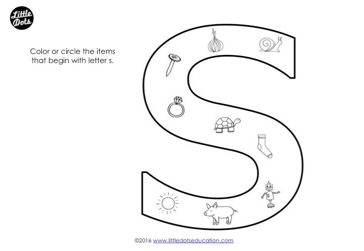 Letter S Sound Worksheet