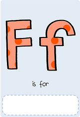 Make your own letter f book with this letter f book cover template.