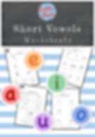 Short vowels worksheets and activities for preschool or kindergarten class