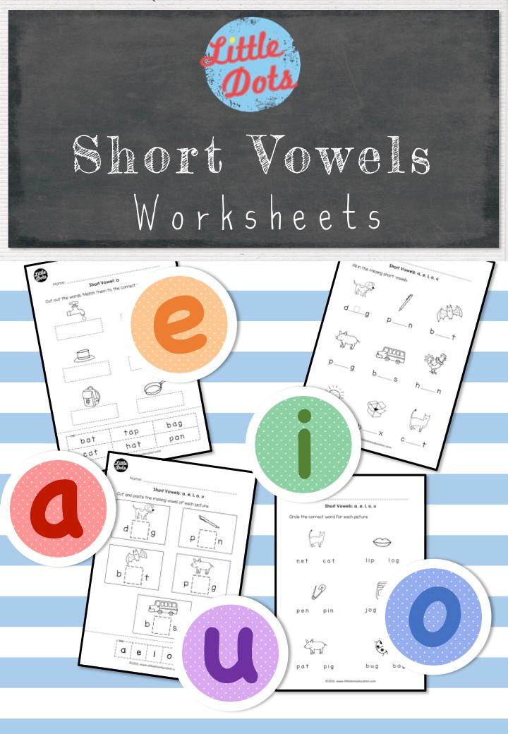 Kinder Garden: Short Vowels (Middle Sounds) Worksheets And Activities