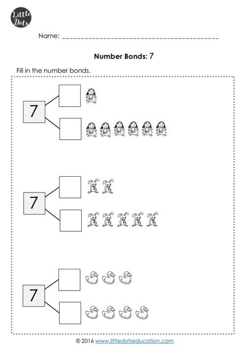 Number bonds within 10 worksheets kindergarten number bonds worksheet ibookread PDF