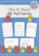 AB Patterns Worksheets Set. Create and continue ab patterns using shapes, color, objects and items of different sizes.