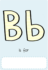 Make your own letter b book with this letter b book cover template.