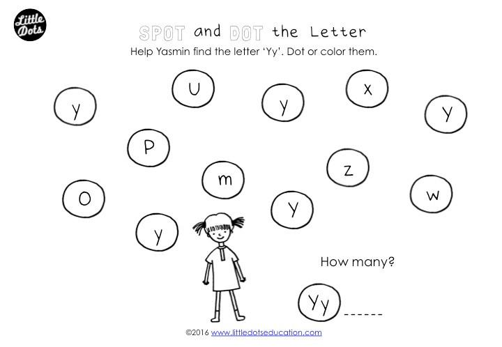 Spot and Dot the Letter Worksheet