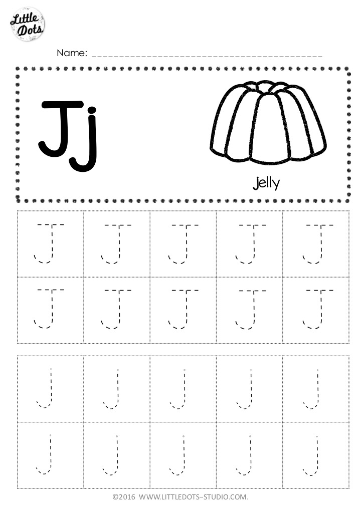 Free Letter J Tracing Worksheets