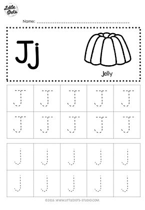 free letter j tracing worksheets. Black Bedroom Furniture Sets. Home Design Ideas