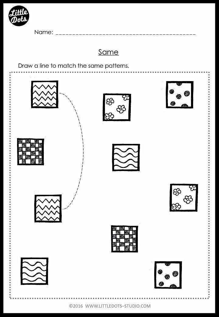 pre-k matching worksheet