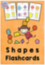 Free shapes flashcards for preschoolers.