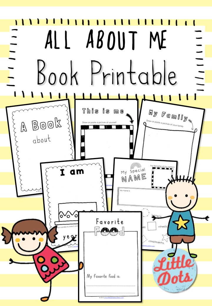All About Me Book Printable Set