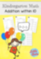 Addition within 10 worksheets for kindergaten