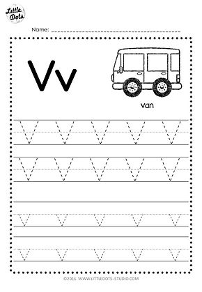 free letter v tracing worksheets little dots education preschool printables and activities. Black Bedroom Furniture Sets. Home Design Ideas
