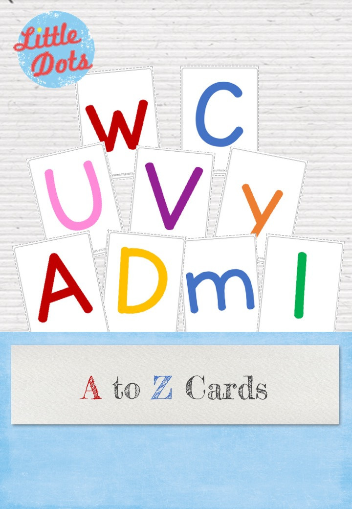 alphabet cards with blank background