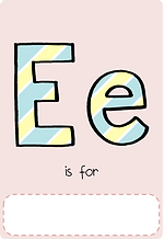 Make your own letter e book with this letter e book cover template.