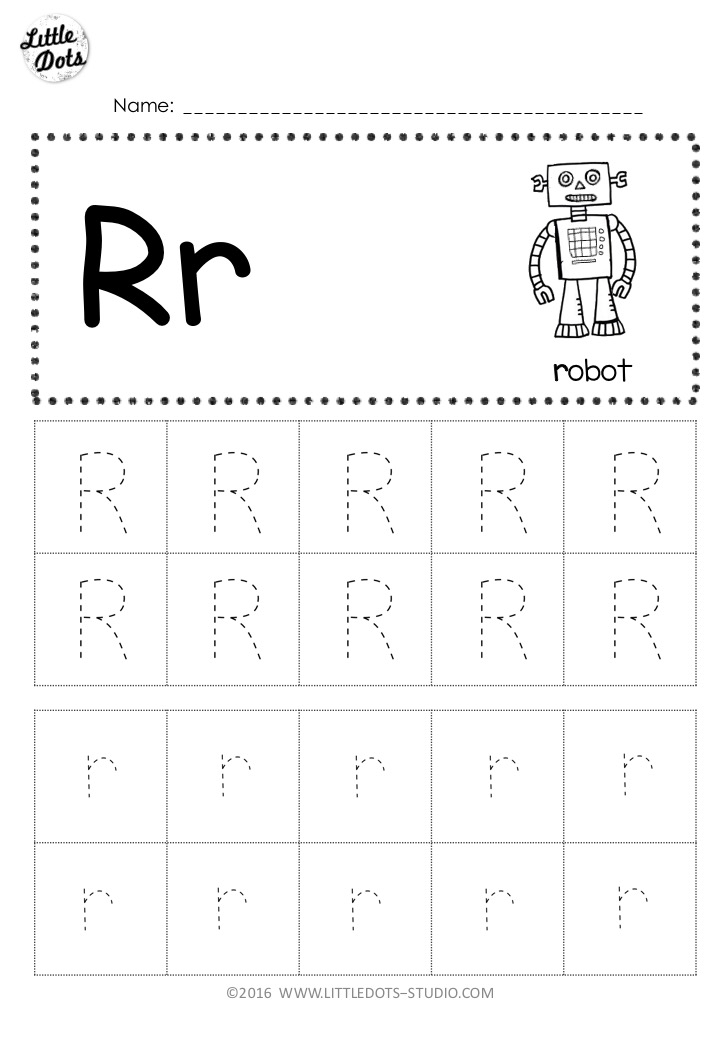 Free Letter R Tracing Worksheets