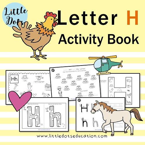 Letter H Activity Book