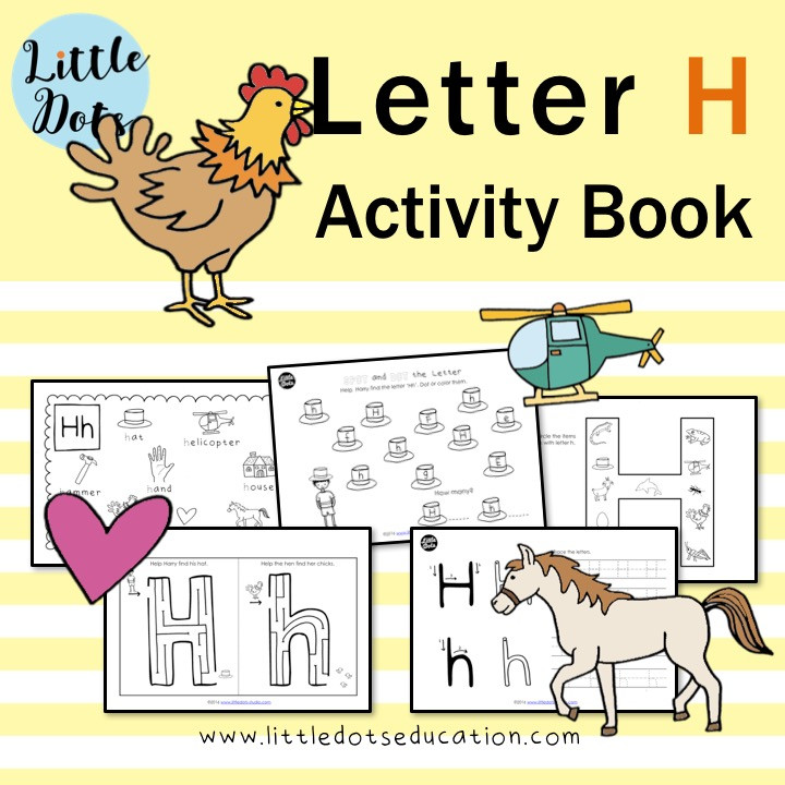 Letter H worksheets and activities