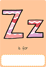 Make your own letter z book with this letter z book cover template.