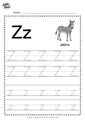 free letter z tracing worksheets. Black Bedroom Furniture Sets. Home Design Ideas