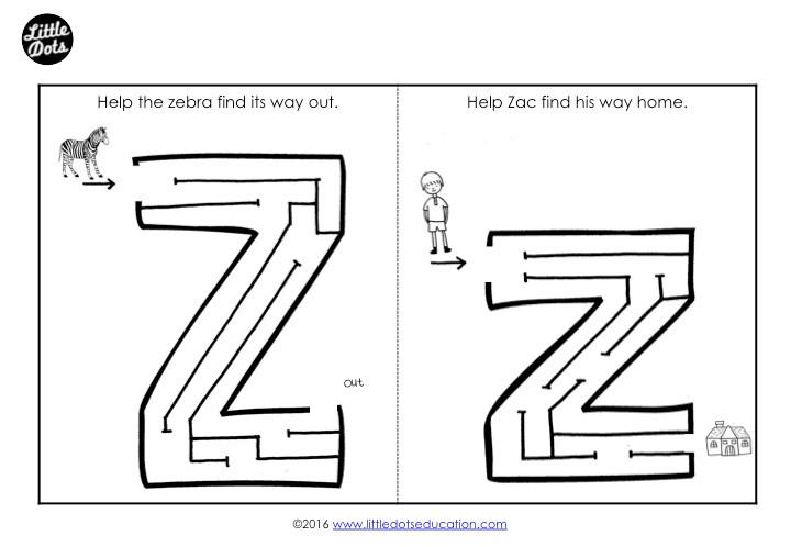 Letter Z Maze