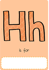 Make your own letter h book with this letter h book cover template.
