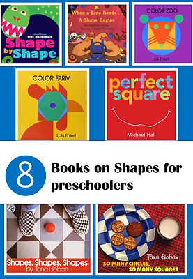 Books on shapes for preschoolers, book lists on shapes, shapes books