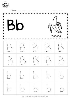 picture relating to Letter B Printable Worksheets identified as Totally free Letter B Tracing Worksheets