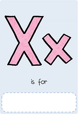 Make your own letter x book with this letter x book cover template.