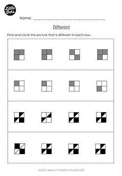 Free different worksheet for kindergarten