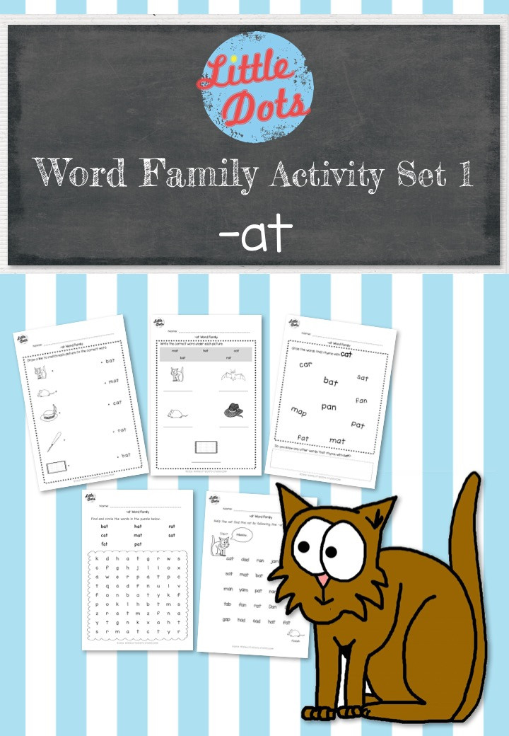 Word Family Activity Set : -at words