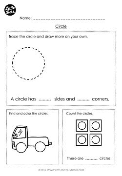 Free kindergarten circle shape worksheet. Learn the basic properties of circle shape and find circle shapes in pictures.