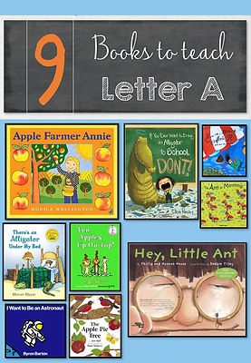 Books to teach letter A, letter A book lists, letter A books, books for preschoolers