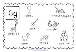 Preschool Letter G Activities and Worksheets