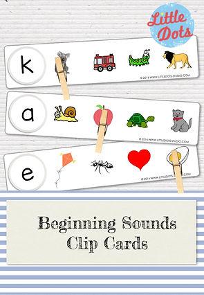Free beginning sound clip cards printable for preschool, pre-k or kindergarten class