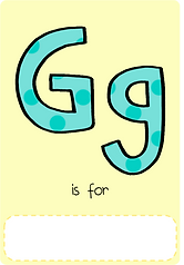 Make your own letter g book with this letter g book cover template.