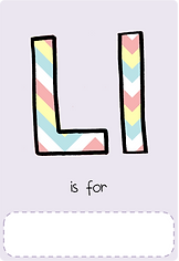 Make your own letter l book with this letter l book cover template.